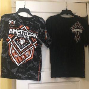 Affliction American fighter shirt boys